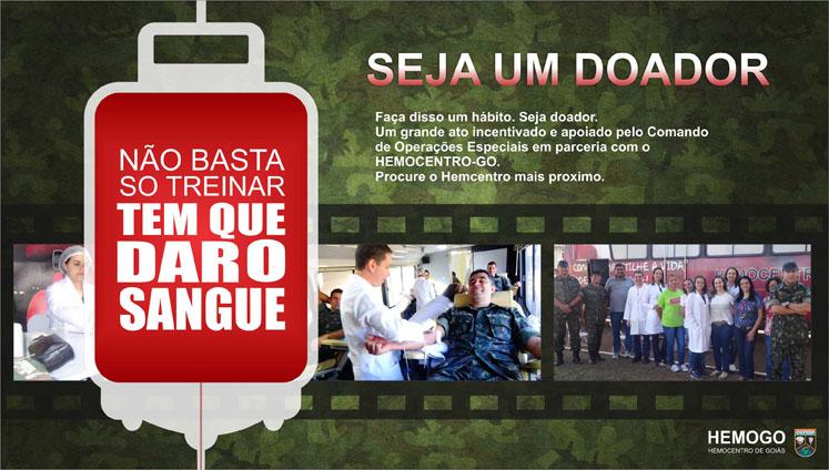 Campanha de doação de sangue no Comando de Operações Especiais